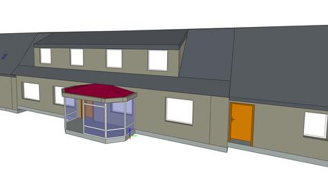 Maquette 3D d'une maison ancienne avant rénovation compléte- Lannion (22)