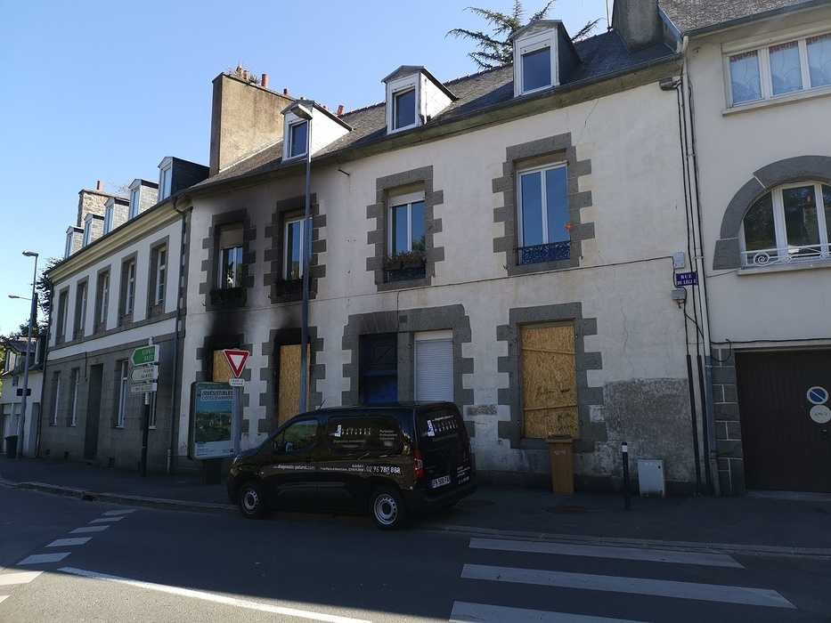 Diagnostic amiante suite sinistre incendie - St-Brieuc 0